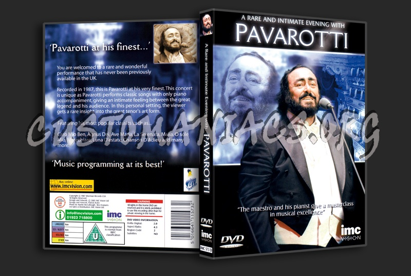 A Rare and Intimate Evening With Pavarotti dvd cover