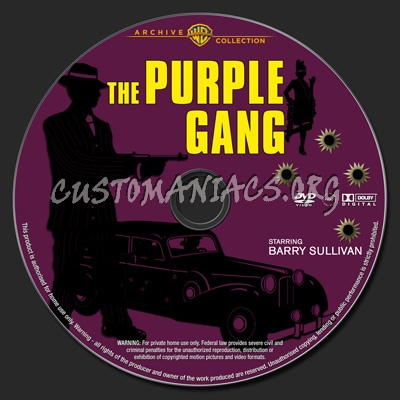 The Purple Gang dvd label