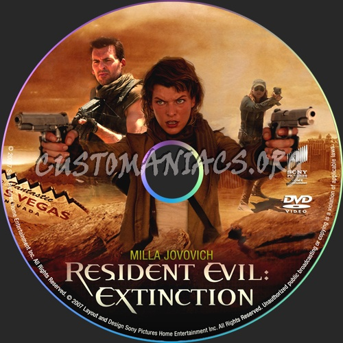 Resident Evil:Extinction dvd label