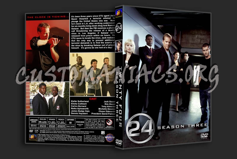24: Seasons 1-8 dvd cover - DVD Covers & Labels by