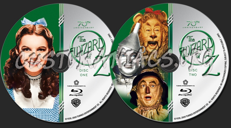 The Wizard of Oz blu-ray label