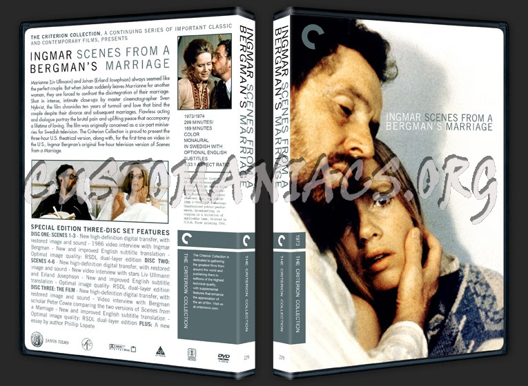 299 - Scenes from a Marriage dvd cover
