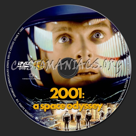 2001: A Space Odyssey dvd label