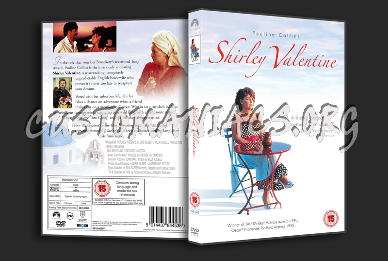 shirley valentine dvd cover dvd covers amp labels by