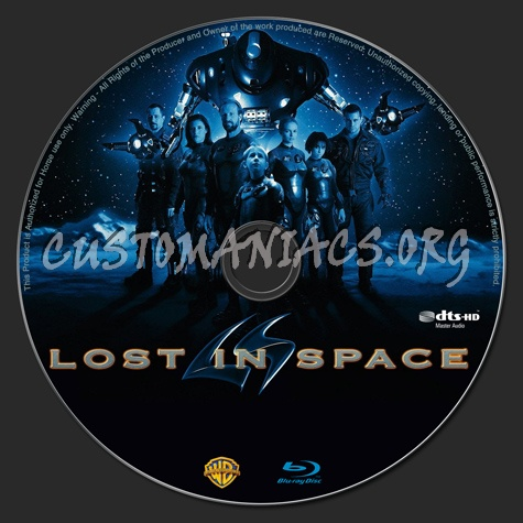 Lost in Space blu-ray label