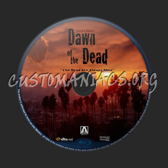 Dawn of the Dead (2004) blu-ray label