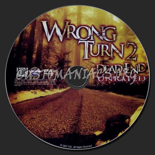 Wrong Turn 2 dvd label