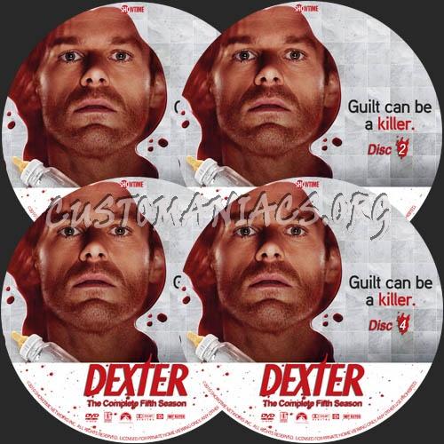 Dexter: Season 5 dvd label