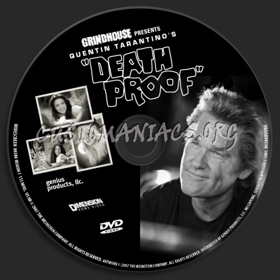 Death Proof dvd label