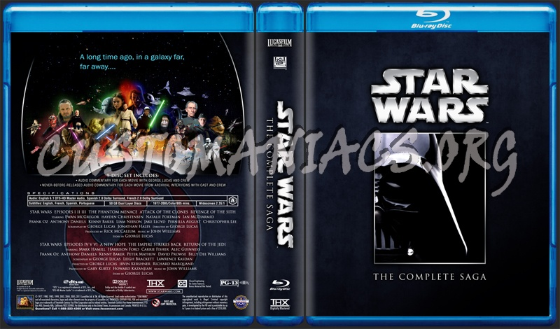 Star Wars - The Complete Saga (films) blu-ray cover - DVD