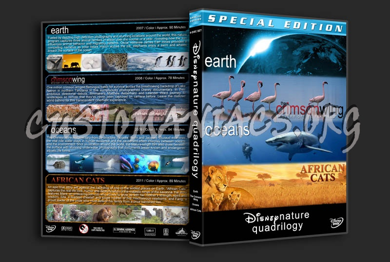 Disneynature Quadrilogy dvd cover