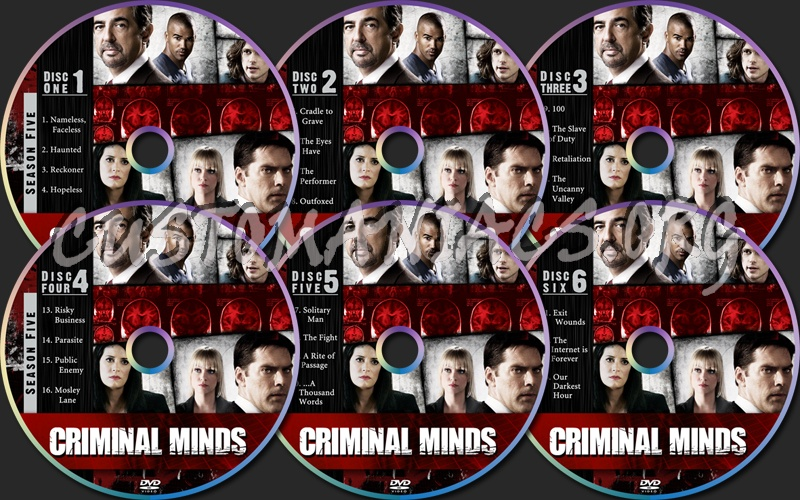 Criminal Minds Season Five dvd label