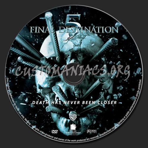 Final Destination 5 dvd label