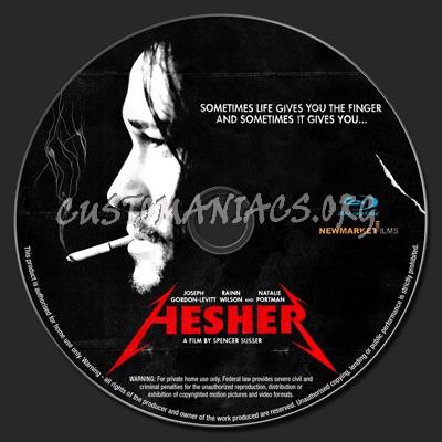 Hesher blu-ray label