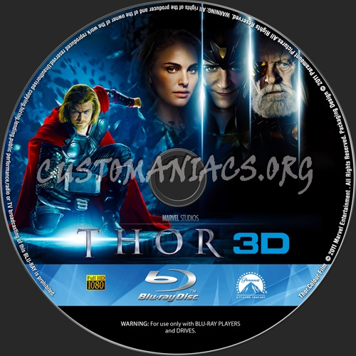 Thor 3d blu-ray label