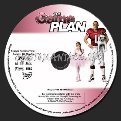 The Game Plan dvd label