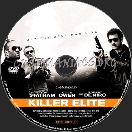 Killer Elite dvd label