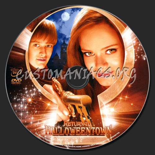 Return to Halloweentown dvd label