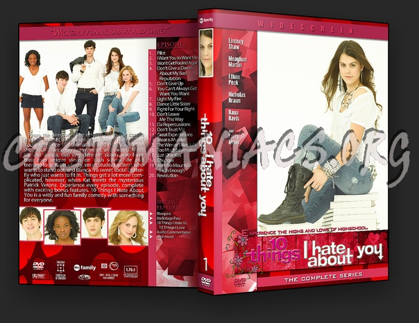 10 Things I Hate About You Cover: 10 Things I Hate About You Dvd Cover
