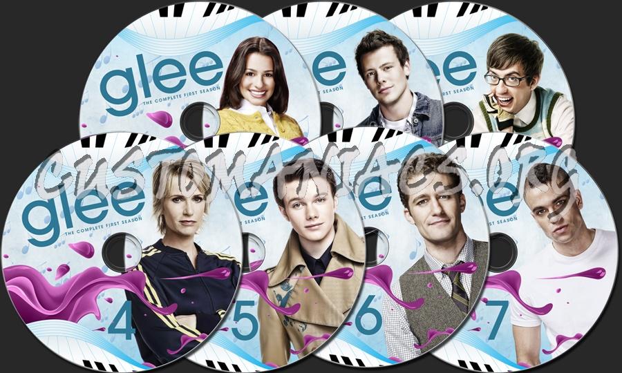 Glee - Season 1 2 3 4 5 dvd label