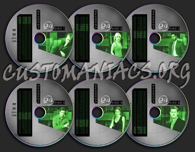 24 - Season 3 dvd label - DVD Covers & Labels by