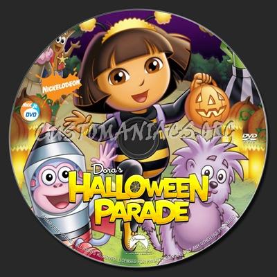 dora the explorer halloween parade dvd label