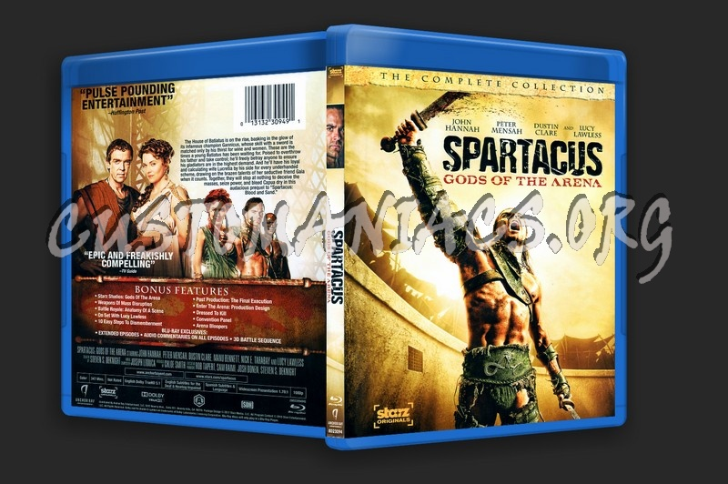 Spartacus: Gods of the Arena blu-ray cover