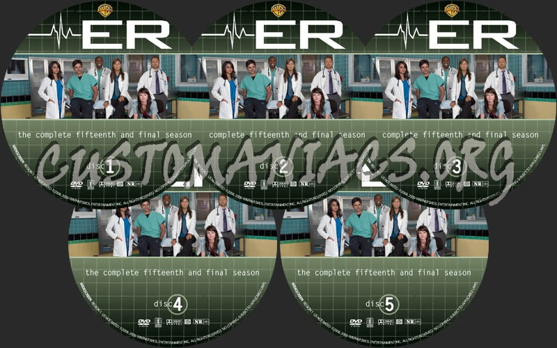 ER: Season 15 dvd label