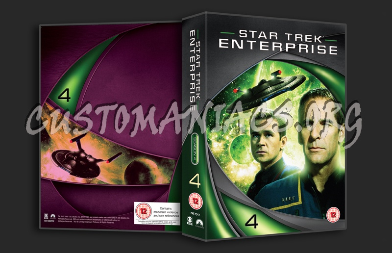 Star Trek Enterprise Season 4 dvd cover