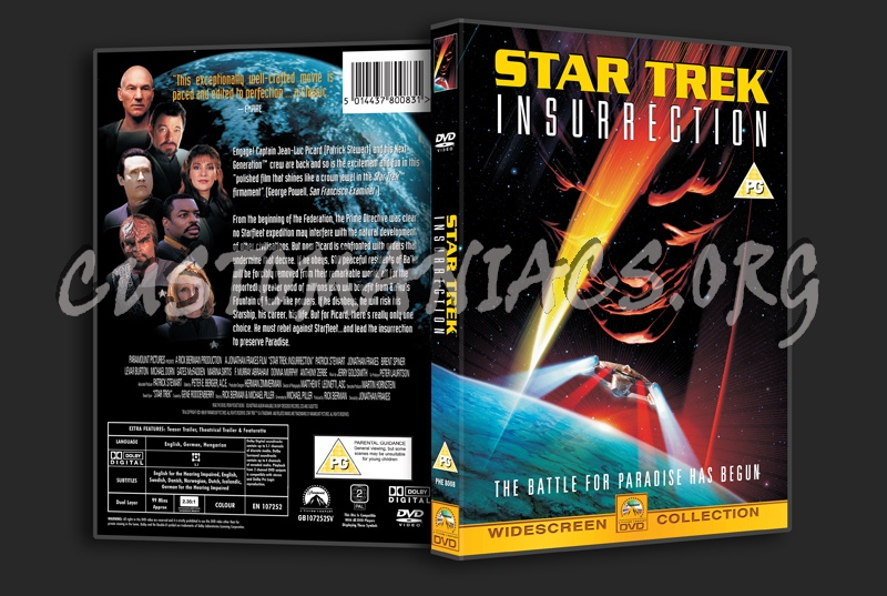 Star Trek Insurrection dvd cover - DVD Covers & Labels by ...