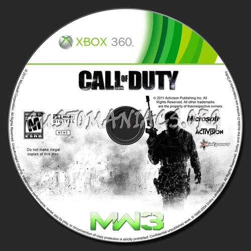 Call Of Duty Modern Warfare 3 Mw3 Dvd Label Dvd Covers Labels By Customaniacs Id 147428 Free Download Highres Dvd Label