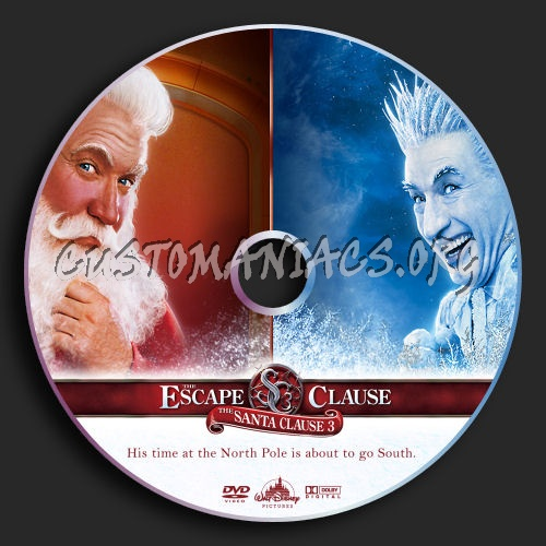 Santa Clause 3 dvd label