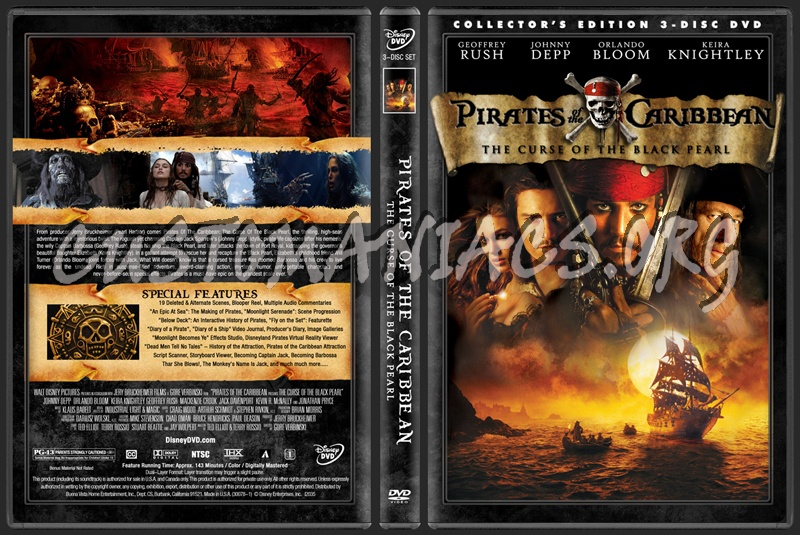 Pirates Of The Caribbean Collection dvd cover