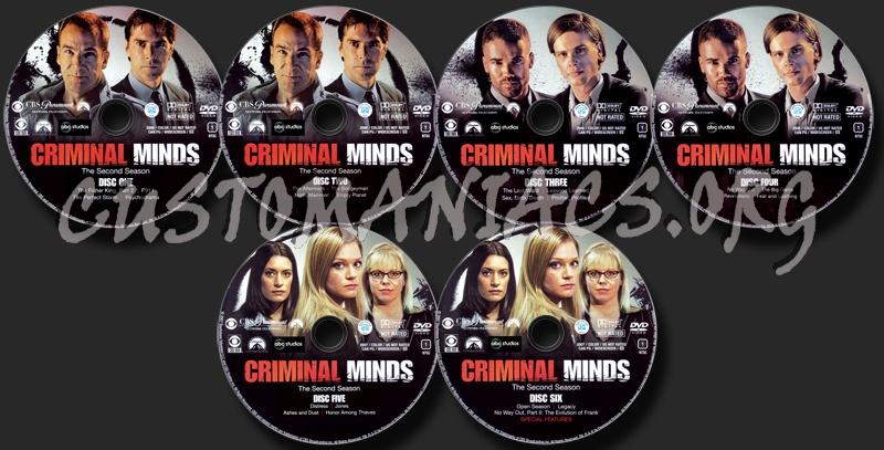 Criminal Minds Season 2 dvd label