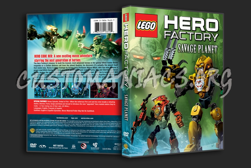 Lego Hero Factory Savage Planet Dvd Cover Dvd Covers Labels By