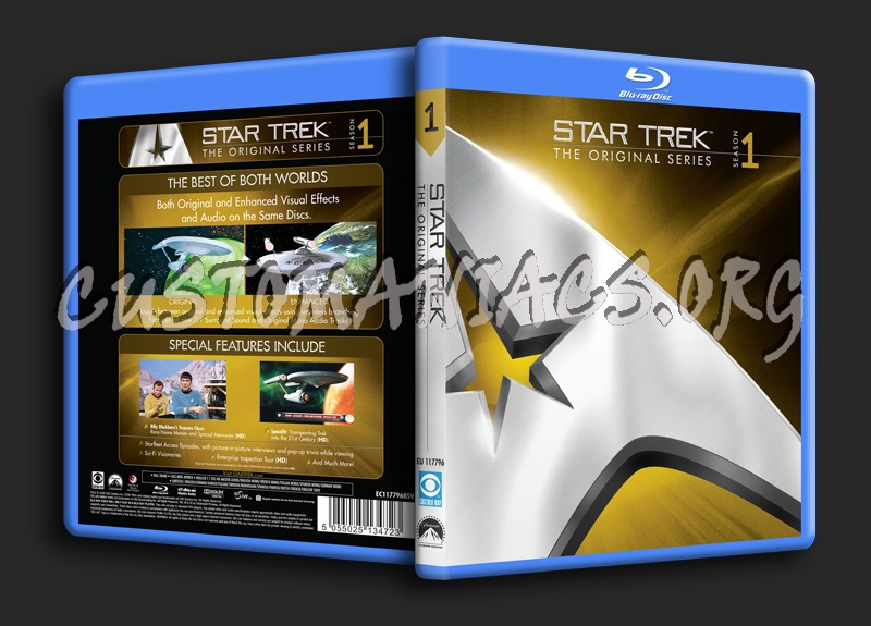 Star Trek The Original Series Season 1 blu-ray cover