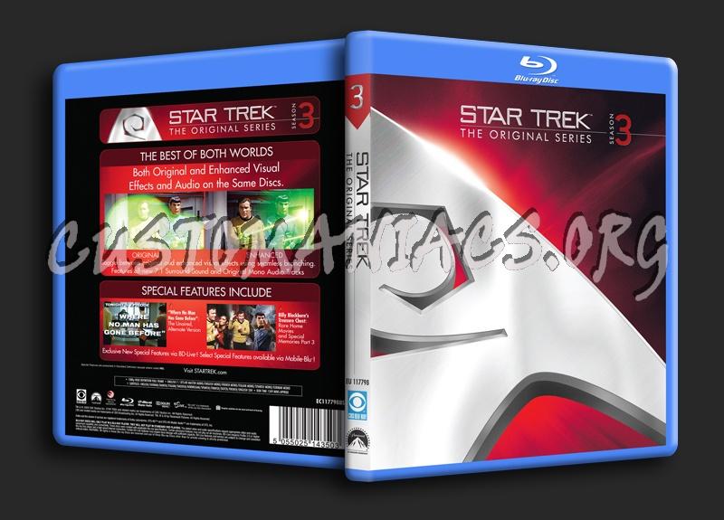 Star Trek The Original Series Season 3 blu-ray cover