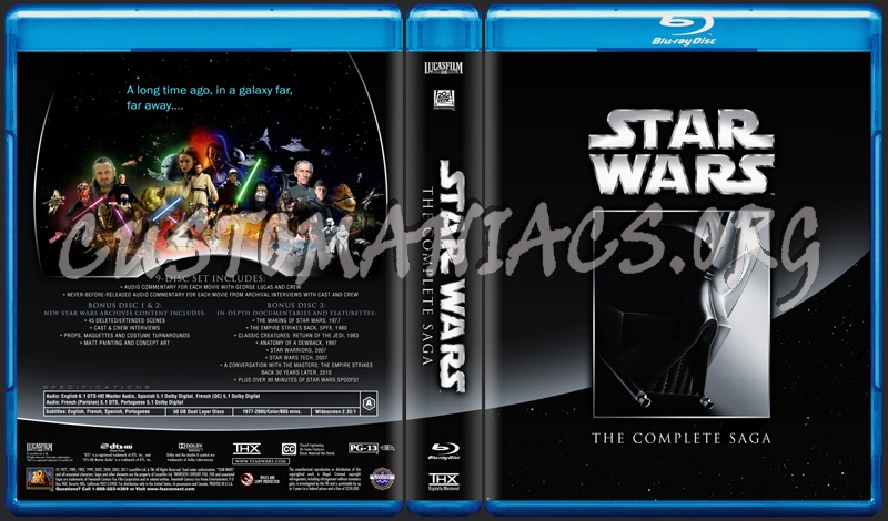 Star Wars The Complete Saga blu-ray cover - DVD Covers & Labels by ...