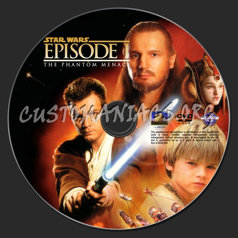 Star Wars Episode 1 - The Phantom Menace dvd label