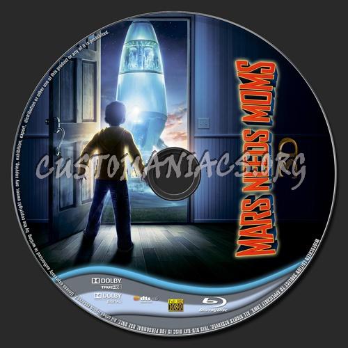 Mars Needs Moms 3D blu-ray label