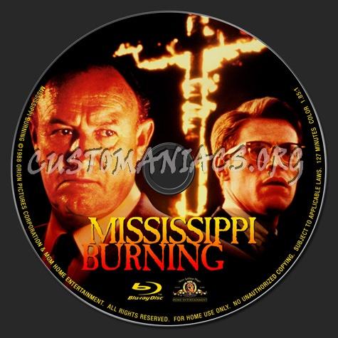 Mississippi Burning blu-ray label