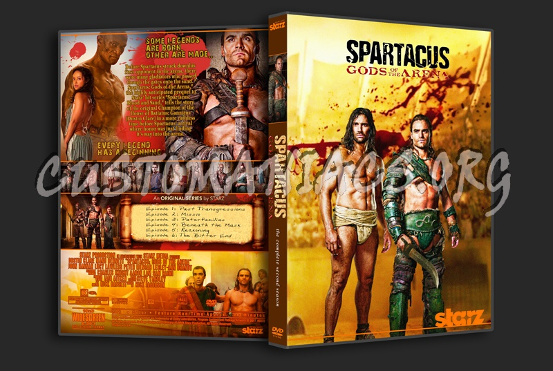 Spartacus Gods of the Arena dvd cover