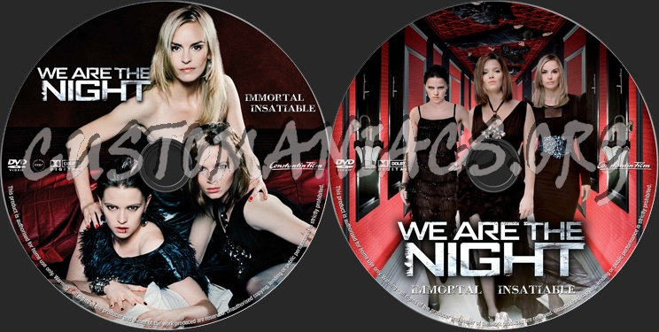 We Are The Night dvd label