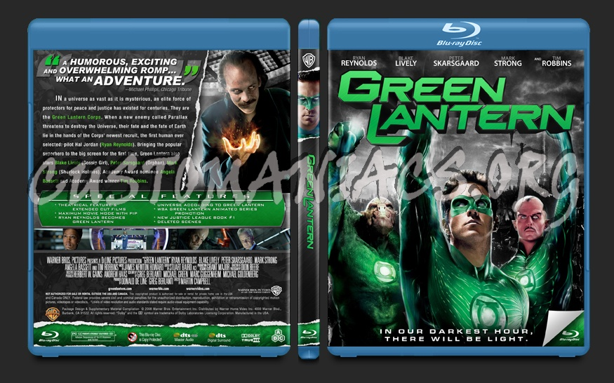 Green Lantern blu-ray cover