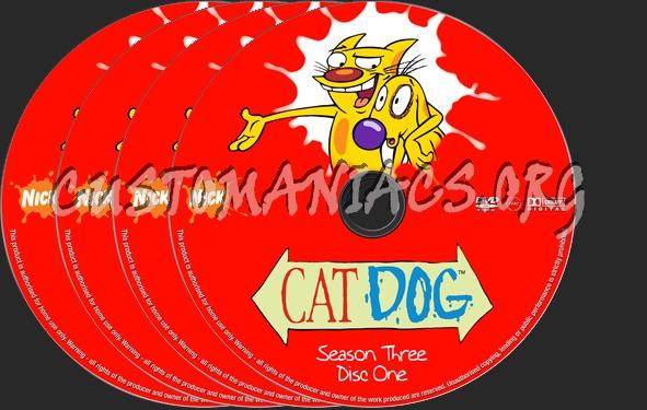 Catdog Season 3 dvd label