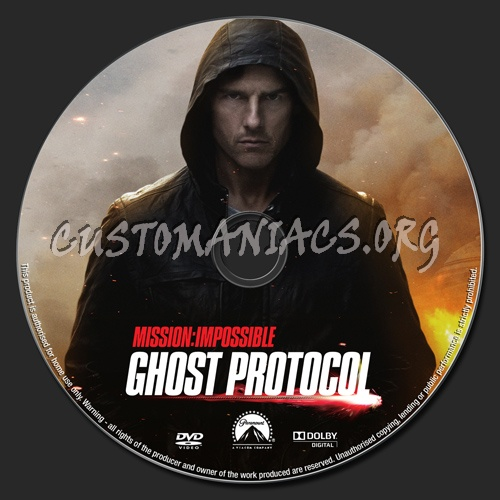 Mission Impossible Ghost Protocol dvd label
