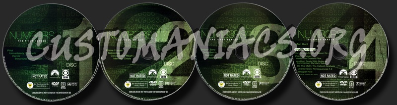 Numb3rs Season 1 dvd label