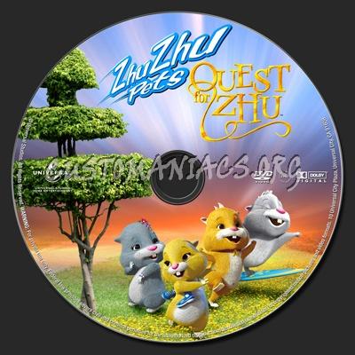 Zhu Zhu Pets Quest For Zhu dvd label