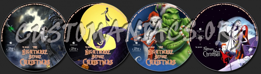 Tim Burton's The Nightmare Before Christmas blu-ray label