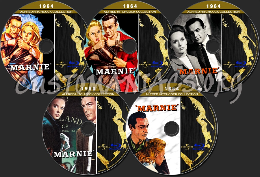 Alfred Hitchcock Collection - Marnie blu-ray label